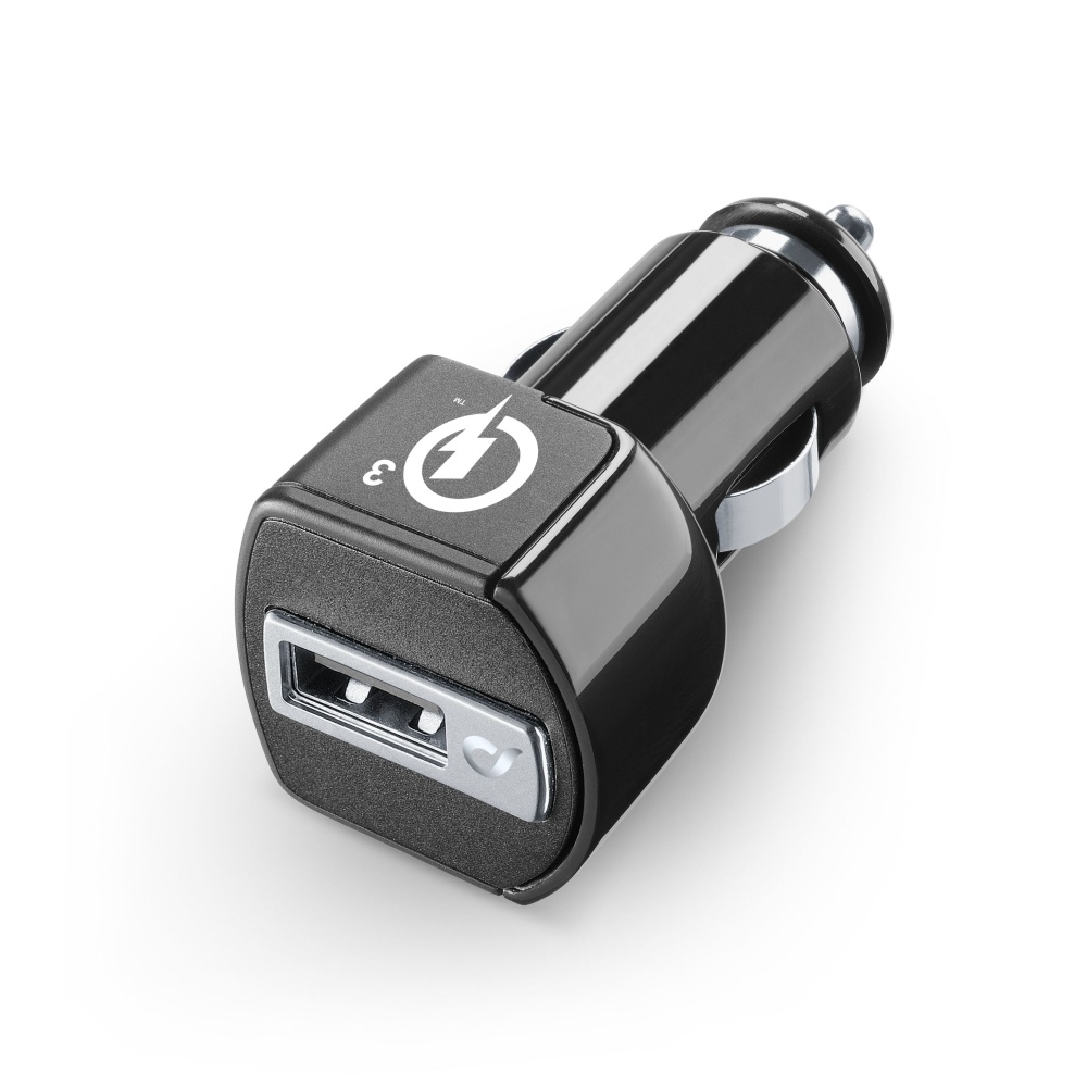 Nabíjačka do automobilu CellularLine USB Charger Ultra s Quick Charge™ 3.0 (CBRUSBQUALCOMMK)