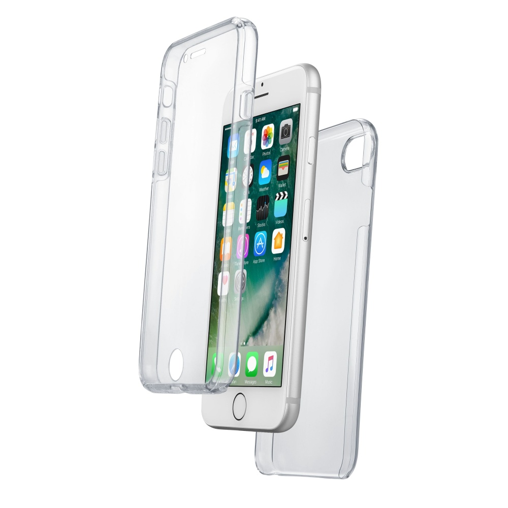 Obojstranný Ultratenký kryt CellularLine Clear Touch pre Apple iPhone 7 8 f8d872cdc66