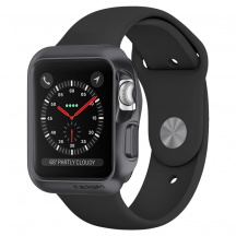 Odolný obal Spigen Slim Armor pre Apple Watch 42mm, Séria 1/2/3 (059CS22563), Space Grey