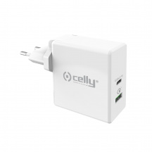 Nabíjačka CELLY PRO POWER s USB-C, Power Delivery, Quick Charge 3.0, 30W, Bílá