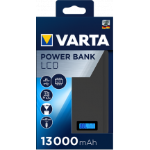 Powerbanka VARTA Power Bank LCD Dual USB, 13000 mAh