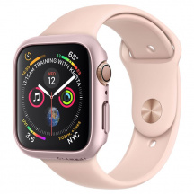 Ochranný obal Spigen Thin Fit pre Apple Watch Series 5 / 4 44mm, Rose Gold