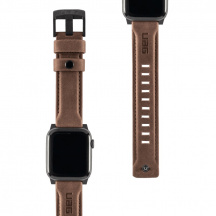 Kožený remienok UAG Leather Strap pre Apple Watch Series 42/44 mm, Hnedá