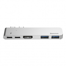 Baseus Thunderbolt Hub pre Macbook Pro, 2x USB-C, HDMI, USB 2.0, Space Grey