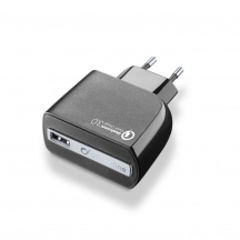 Nabíjačka CellularLine USB Charger Ultra s Quick Charge™ 3.0, Čierna (ACHUSBQUALCOMMK)