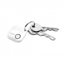 Sledovacie Bluetooth prívesok Fixed Key Finder Smile Duo Pack, Bielá
