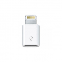 Adaptér Apple MD820ZM microUSB na Lightning, Bielá