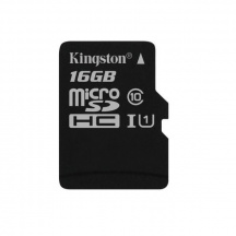 Pamäťová karta Kingston microSDHC 16 GB, Class 10