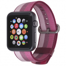 Nylonový remienok StilGut® pre Apple Watch Series 1/2/3/4, Cherry (42/44 mm)