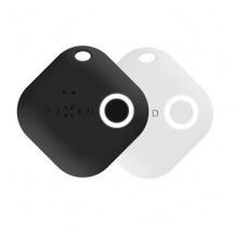 Sledovací Bluetooth přívěsek FIXED Key Finder Smile s motion senzorem DUO PACK, Biela + Čierná