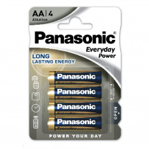 Alkalické batérie Panasonic Everyday Power AA, LR6EPS/4BP, 4 ks